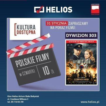 Kultura Dostępna 31.01- Dywizjon 303. Historia Prawdziwa- Kino Helios Atrium Biała