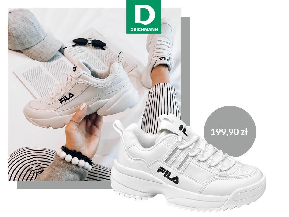 Sneakersy Fila w sklepach Deichmann - Centrum Handlowe Atrium Biała