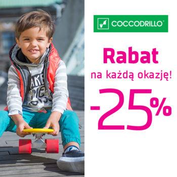 Rabat -25% na każdą okazję w Coccodrillo