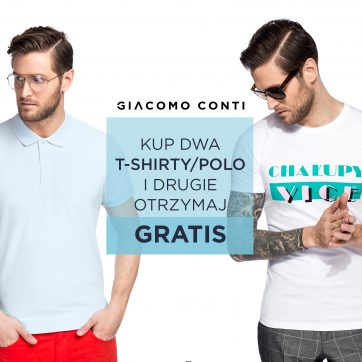 Druga sztuka polo/T-shirt gratis