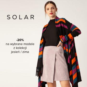 Rabat 20% na wybrane modele z kolekcji jesień