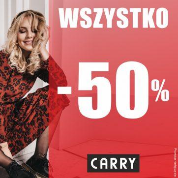 """"""" WSZYSTKO – 50%"""