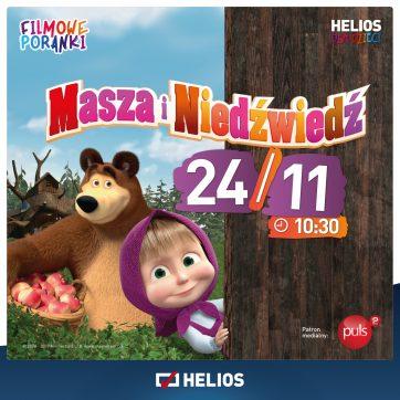Filmowe Poranki Masza i Niedźwiedź cz. 2 Helios Białystok Biała 24.11
