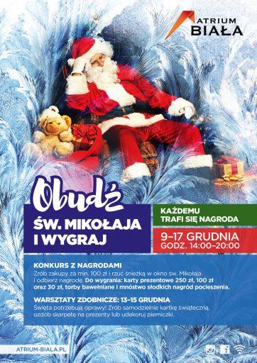 Obudź Św. Mikołaja i wygrywaj w Atrium Biała