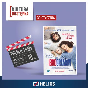 Kultura Dostępna w Kinie Helios – czyli bilet za jedyne 10 zł!!!