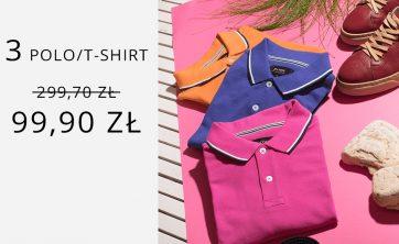 Dowolny zestaw 3 produktów polo/t-shirt 99,90 zł