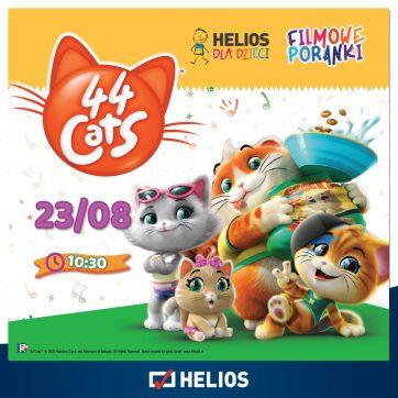 Filmowe Poranki 23.08.2020 44 Koty kino Helios Atrium Biała
