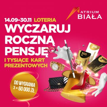 """LOTERIA """"WYCZARUJ ROCZNĄ PENSJĘ""""!"""